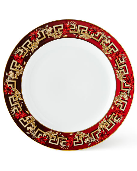 Versace Christmas Blooms Salad Plate