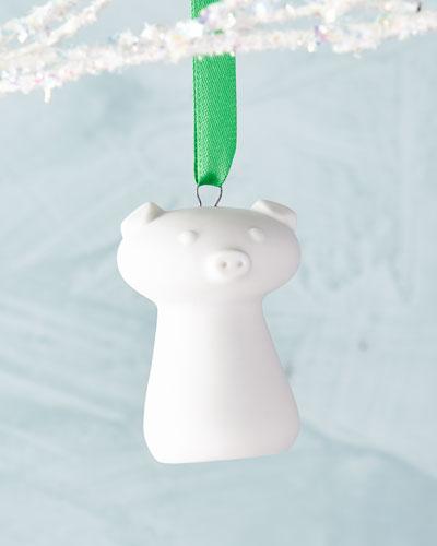 Piggy Porcelain Christmas Ornament