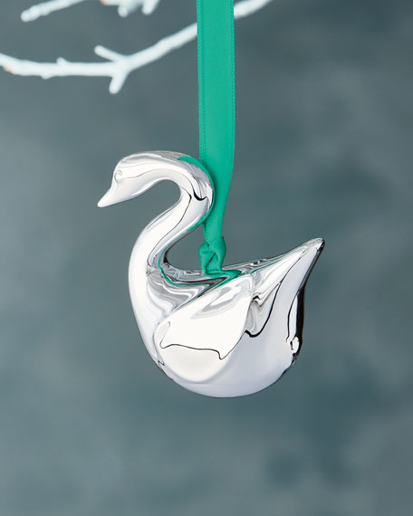 Jonathan Adler Metallic Swan Christmas Ornament