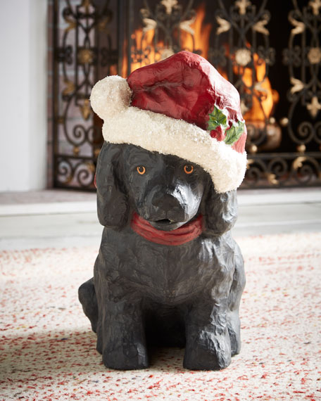 Bethany Lowe Black Lab Santa Paws Large