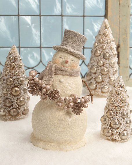 Bethany Lowe Smiley Snowman Figure