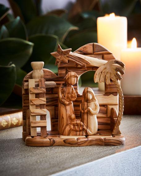 Bethlehem Star Olive Wood Nativity, 2 Piece