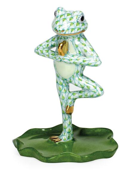 Yoga Frog Tree Pose Figurine