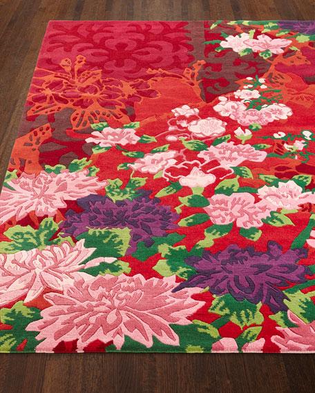 Floral Bouquet Rug, 9' x 13'