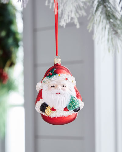 Red & Green Collection Buddha Santa Ornament