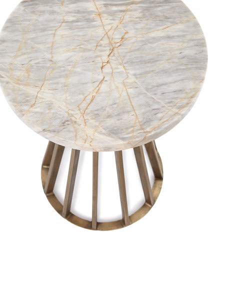 Jarred Marble Side Table