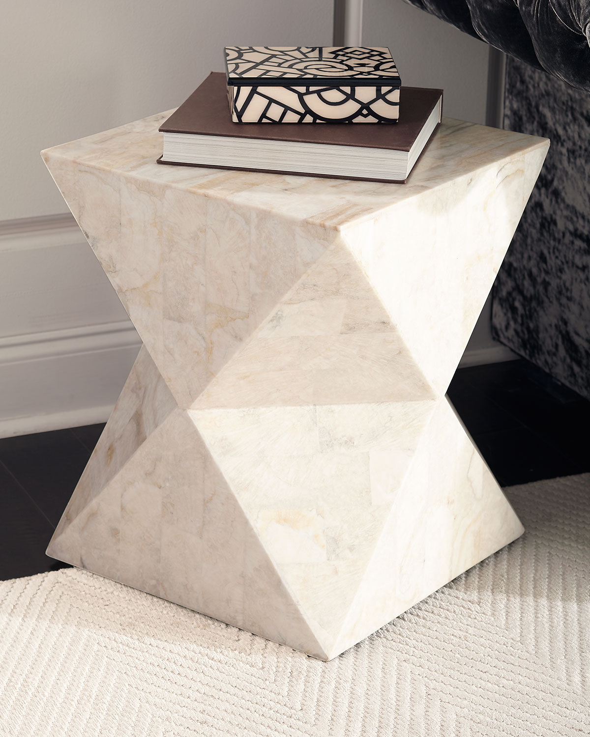 Charmant Jules Stone Side Table