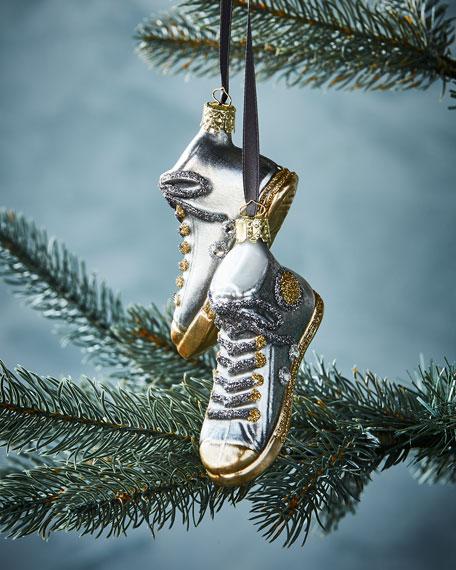 Christborn Wegner Silver Sneakers Christmas Ornament