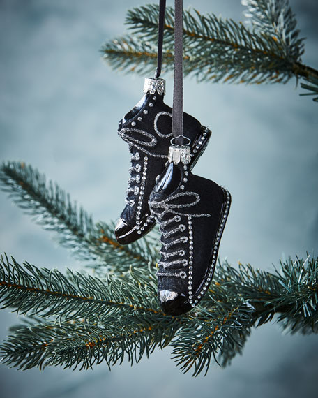Black Sneaker Christmas  Ornament