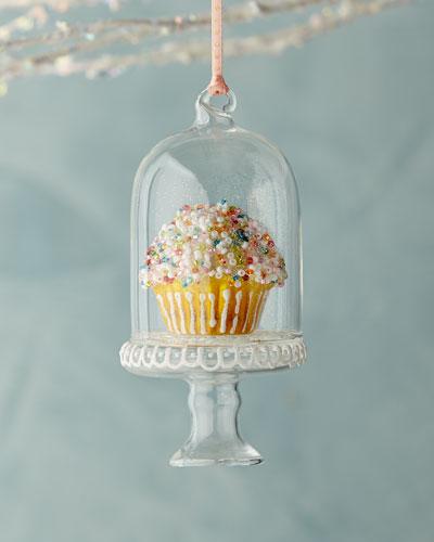 Sprinkles Cupcake in Dome Ornament