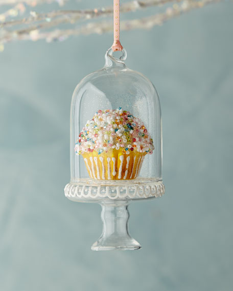 Sprinkles Cupcake in Dome Ornament