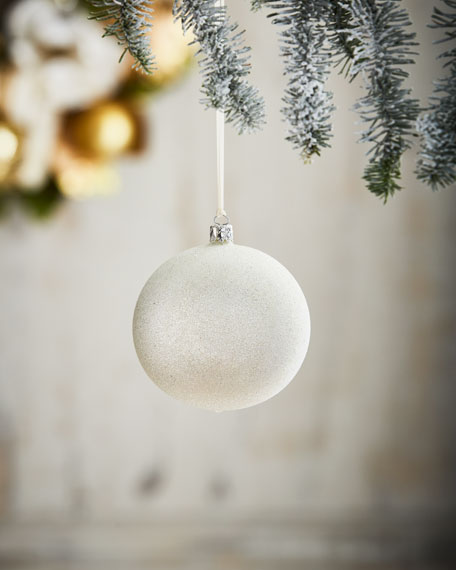 White & Silver Collection Silvery Glitter Ornament