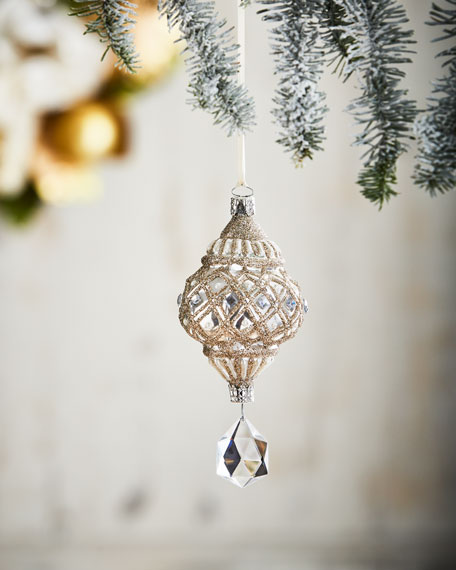 Christborn Wegner White & Silver Collection White Drop/Faux-Jewel