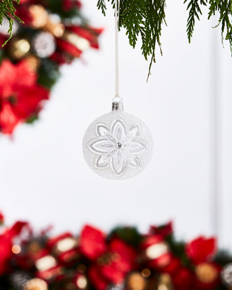 Christborn Wegner White & Silver Collection Clear/Snow Flowers