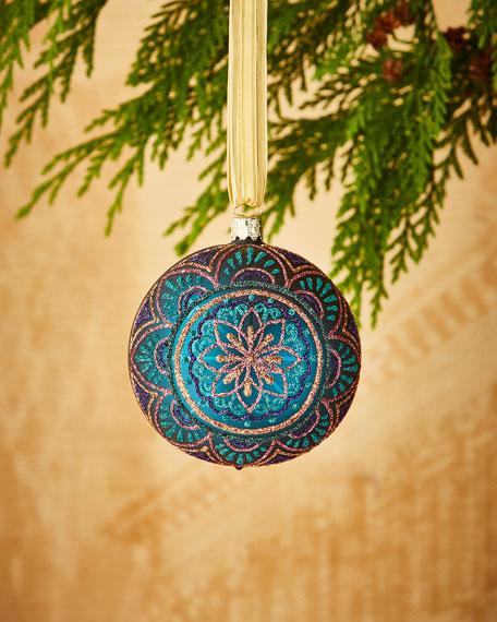 Christborn Wegner Matte Turquoise/Medallion Ornament