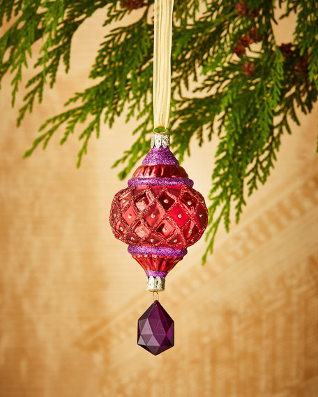 Christborn Wegner Faux-Jewel Drop Christmas Ornament