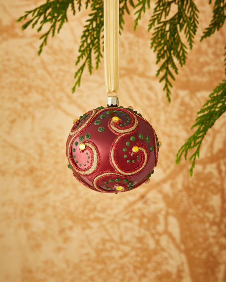 Christborn Wegner Shiny Burgundy/Swirl Ornament