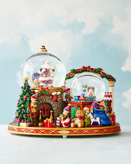 Christopher Radko It Takes a Village Snow Globe