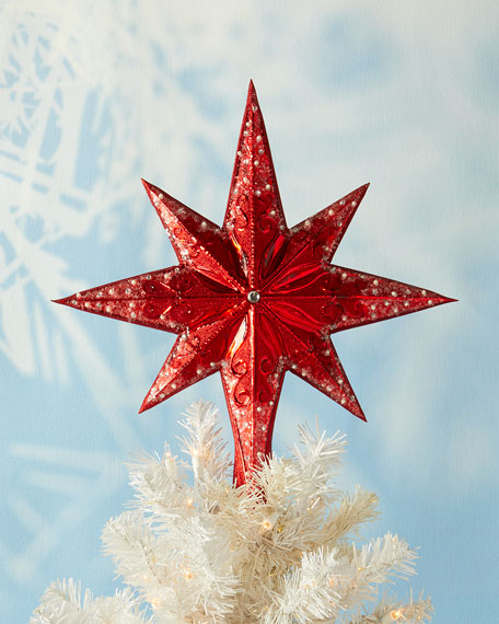 Christopher Radko Ruby Stellar Christmas Tree Topper
