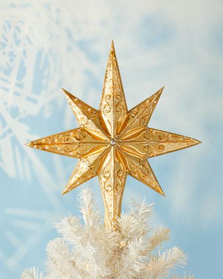 Christopher Radko Champagne Stellar Christmas Tree Topper