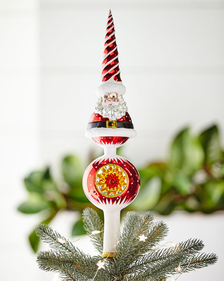 Christopher Radko Swirl Santa Finial Tree Topper