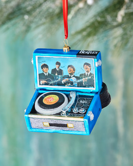 Christopher Radko Beatles Record Player Ornament