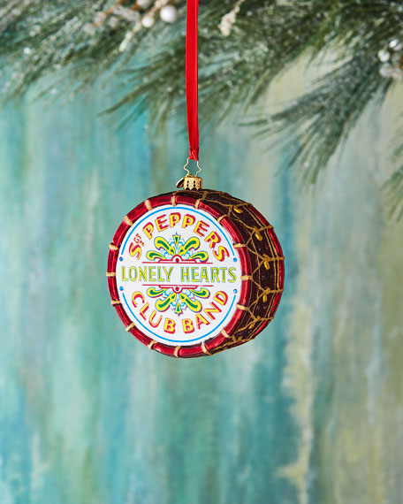 Christopher Radko Beatles Large Sgt. Peppers Drum Ornament