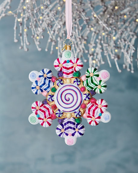 Christopher Radko Candy Shop Snowflake Christmas Ornament