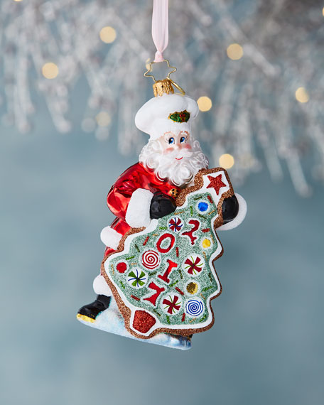 Christopher Radko Sugar Cookie Kris Christmas Ornament