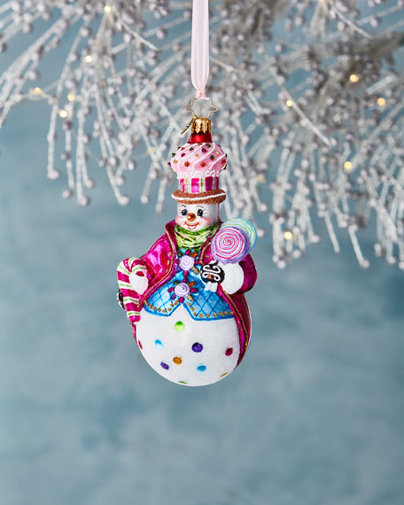 Christopher Radko Couldn't Be Sweeter Snowman Christmas Ornament
