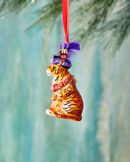 Christopher Radko Beguiling Tiger Ornament