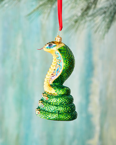 Gilded Cobra Ornament