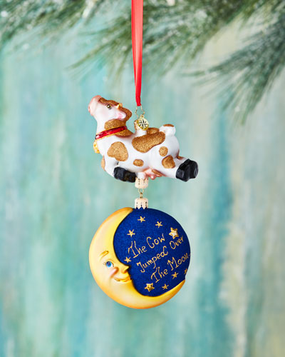 Hey, Diddle! Cow Over the Moon Ornament