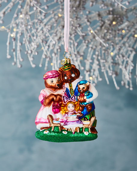 She Can't Bear to Eat Alone Goldilocks Christmas Ornament