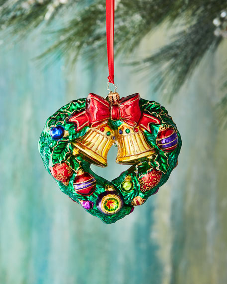 Christopher Radko Heart-Shaped Wreath Christmas Ornament