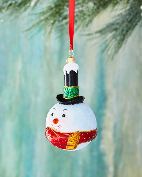 Christopher Radko Snowy Stovepipe Snowman Ornament