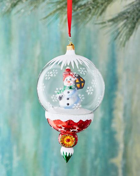 A Lantern Lights the Way Snowman Ornament
