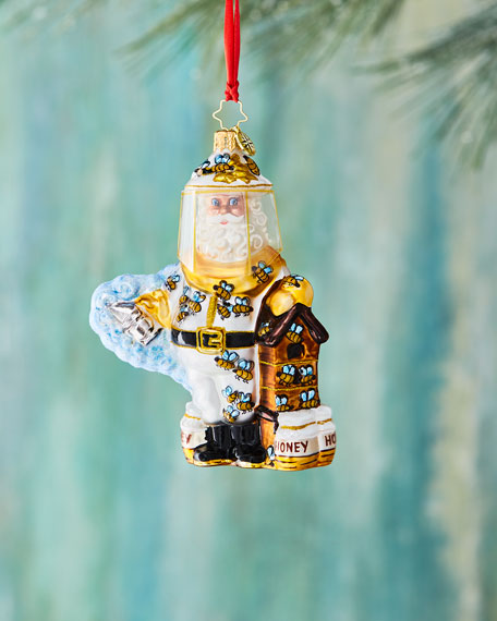 Christopher Radko Bee Calm, Santa! Christmas Ornament