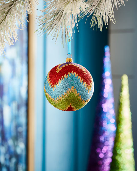 Playful Brights Collection Zigzag Glitz Ornament