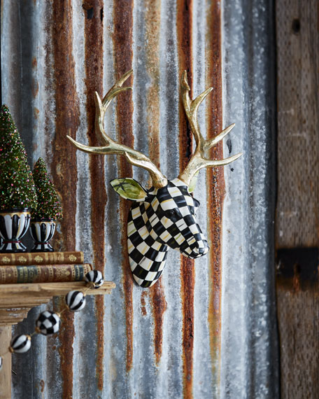 MacKenzie-Childs Courtly Check Small Deer Wall Mount