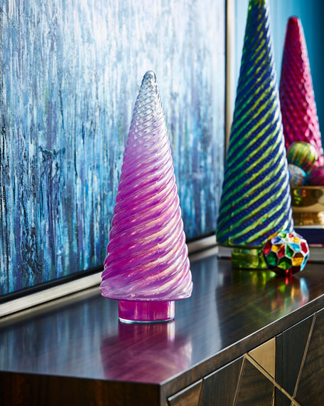 Cody Foster & Co Opalescent Hot Pink Tree,