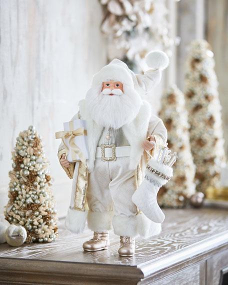 """White & Silver Collection Santa, 18"""""""