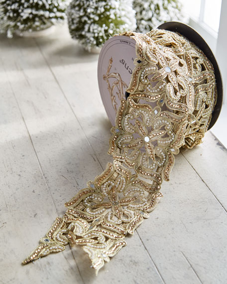 D. Stevens Gold & Glitter Collection Golden Open-Pattern