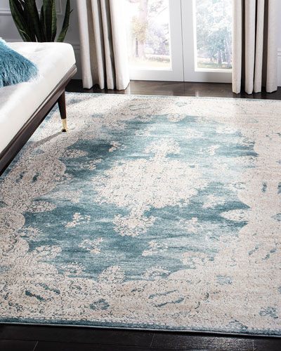 Kailey Blue Rug, 4' x 6'