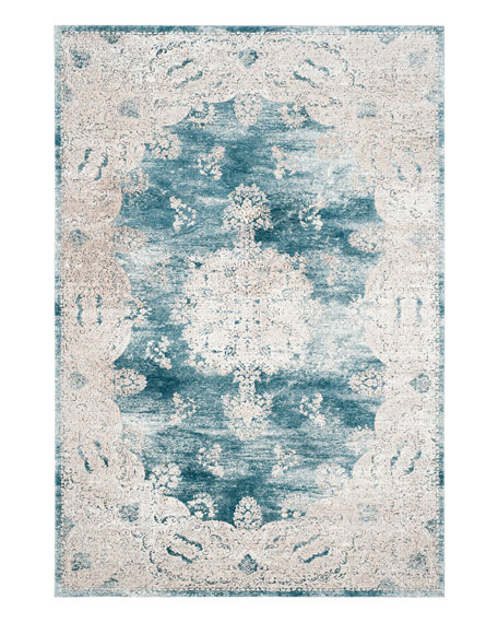 "Kailey Blue Rug, 6'7"" x 9'"