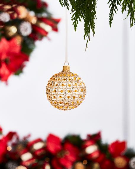 Gold & Glitter Collection Matte White Glitter &