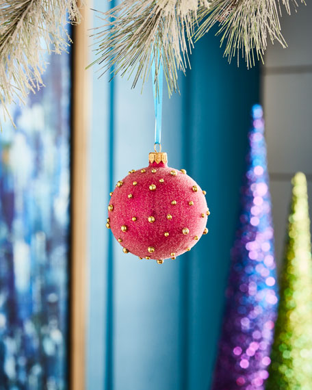 Playful Brights Collection Pearlized Hot Pink Ornament