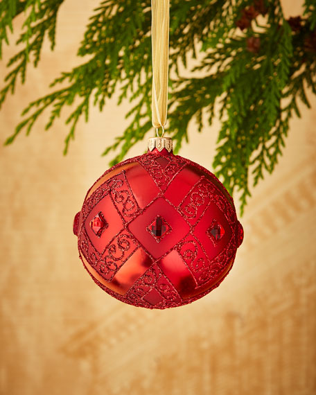 Shiny & Matte Red Ornament