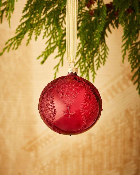 Shiny Red/Paisley Ornament