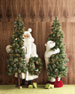 Ivory Frost Lit Santa with Coat